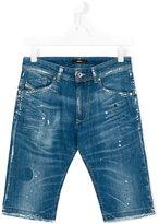 Diesel stretch denim shorts - kids - Cotton/Spandex/Elastane - 16 yrs