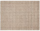 Pottery Barn Chevron Wool Jute Rug - Mocha