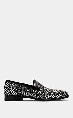 Alexander McQueen Men's Studded Leather Venetian Loafers - Black