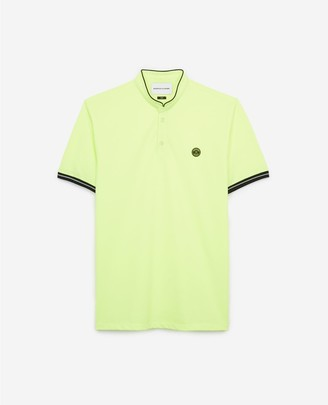 The Kooples Yellow cotton polo w/officer collar