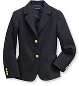 Lands' End Little Girls Hopsack Blazer-Deep Navy