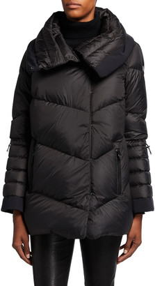 Post Card Muse Puffer Coat, Black