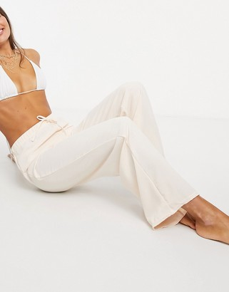 New Girl Order casual drawstring beach pants in stone