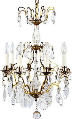 One Kings Lane Vintage French Napoleon III Crystal Chandelier - Negrel Antiques - gold/clear