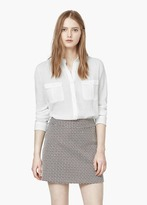 Mango Outlet Textured Cotton Shirt