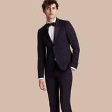 Burberry Slim Fit Wool Tuxedo Jacket , Size: 52, Blue