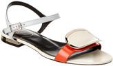 Roger Vivier Chips West Buckle Leather Sandal