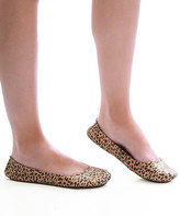 CitySlips Leopard Foldable Ballet Flats & Carrying Case