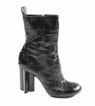 Louis Vuitton Silhouette Black Leather Ankle boots