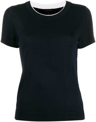 Escada Lined Shortsleeved Knitted Top
