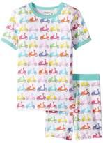 Trimfit - Organic Cotton Short Sleeve Dreamwear Pajama Set Girl's Pajama Sets