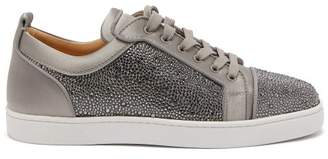 Christian Louboutin Louis Junior Strass Suede Trainers - Mens - Grey