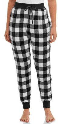 Be Yourself Sunday Vibes Women's and Women's Plus Printed Fleece Sleep Jogger Pant