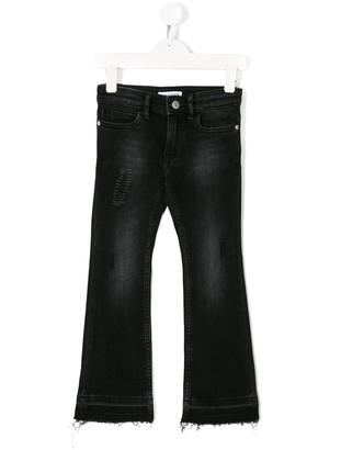 Calvin Klein Kids Stonewashed Distressed Jeans
