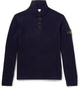 Stone Island - Wool-blend Mock Neck Sweater