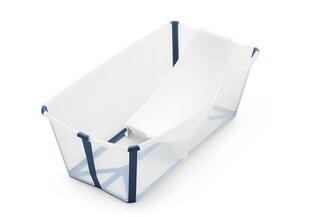 Stokke Flexibath Tub with Newborn Support Bundle Transparent Blue