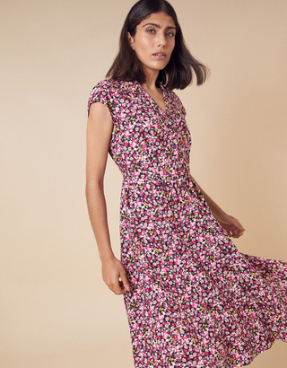 Under Armour Ditsy Floral Shirt Dress in LENZING ECOVERO Pink