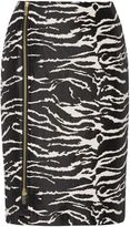 Biba Zebra jacquard zip detail skirt