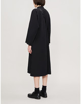 Comme des Garcons Comme Mandarin-collar woven mini dress