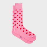 Paul Smith Men's Pink Polka Dot Socks