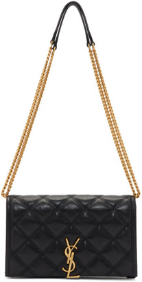 Saint Laurent Black Becky Chain Wallet Bag