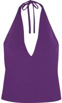 Gareth Pugh Halterneck Crepe Top - Purple