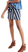 Madewell Women's Stripe Faux Wrap Tie Skirt