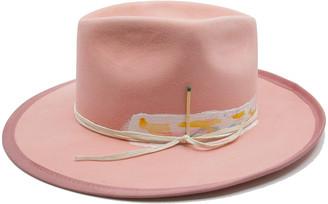 Nick Fouquet Babe Rainbow Painted Fedora Hat