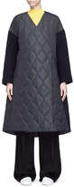 Enfold Melton sleeve quilted A-line coat