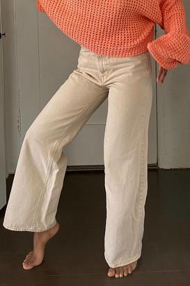BDG High-Waisted Wide Leg Jean - Khaki