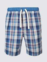 M&S Collection Pure Cotton Checked Shorts