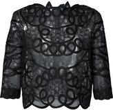 Carolina Herrera allover corded embroidered crop top - women - Silk - 2
