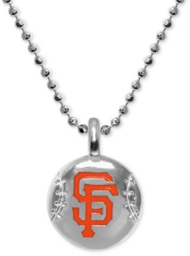 "Alex Woo San Francisco Giants 16"" Pendant Necklace in Sterling Silver"