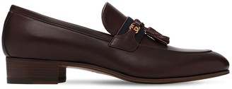 Gucci 30mm Web Leather Loafers