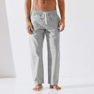 The White Company Stripe Flannel Pyjama Bottoms