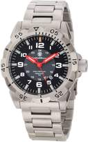 Smith & Wesson Men's SWW-88-S Emissary Tritium H3 Stainless Steel and Black Leather Straps Watch