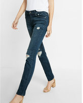 Express mid rise distressed stretch+ performance skinny jeans