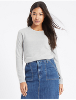 M&S Collection Soft Ribbed Round Neck Jumper