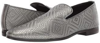 Steve Madden Dieggo Dress Loafer (Black Leather) Men's Shoes