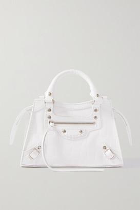 Balenciaga Neo Classic City Mini Croc-effect Leather Tote - White