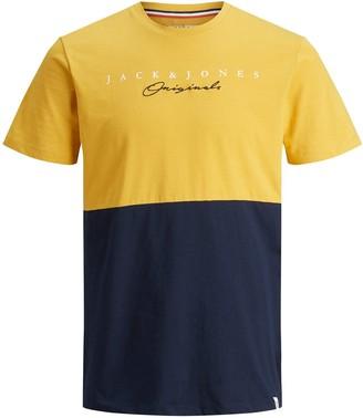 Jack and Jones Boys Short Sleeve Colourblock T-Shirt - Yellow