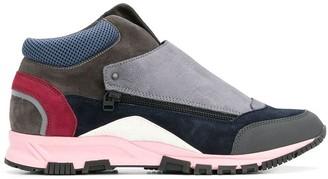 Lanvin Zipped Colour-Block Sneakers