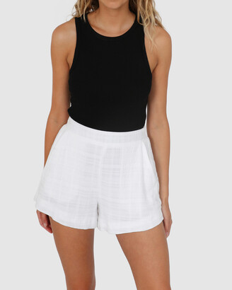Lost in Lunar - Women's White High-Waisted - Xana Shorts - Size One Size, 6 at The Iconic