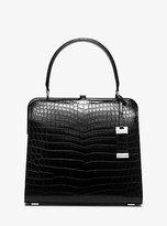 Michael Kors Cary Medium Nile Crocodile Top-Handle Bag