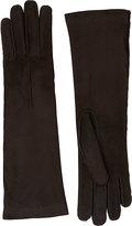 Barneys New York Women's Cashmere-Lined Long Gloves-DARK BROWN