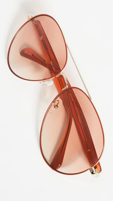 Linda Farrow Luxe Mathew Williamson x Linda Farrow Classic Aviators