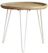 Rayborn Wooden End Table Wrought Studio Color: White