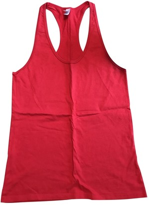 American Apparel \N Red Cotton Top for Women