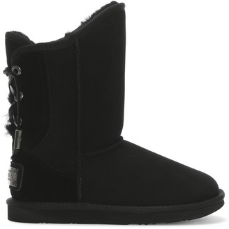 Australia Luxe Collective Dita Short Black Double Faced Sheepskin Ankle Boots
