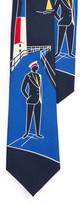 Ralph Lauren Lighthouse-Print Silk Tie